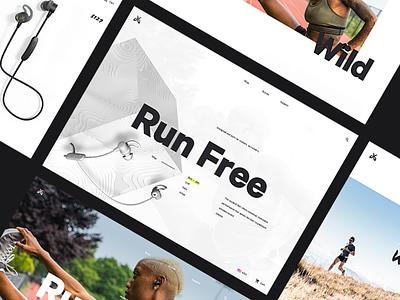 Jaybird 🎧 - Initial Concepts layout e-com ecom shopping e-commerce ecommerce concept website web sketch sketches ux ui design