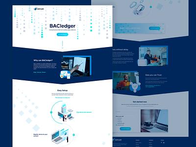 Landing design blue page layout page design landing web website ui ux perfectorium design