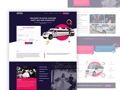 Avital Limousine Landing Design limousine landing page design websites website design landing web website ux ui perfectorium design