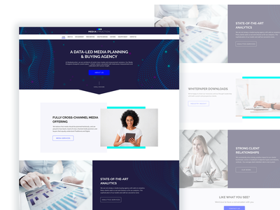 Mediastruction Design Concept website concept websites web design web website ux ui perfectorium design