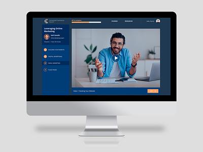 Learning platform design minimal app web website ui ux perfectorium design