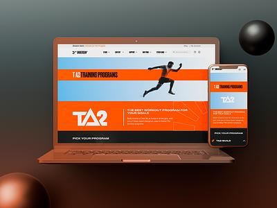 Website design for fitness brand website concept website design fitness websites webdesign web website ui ux perfectorium design