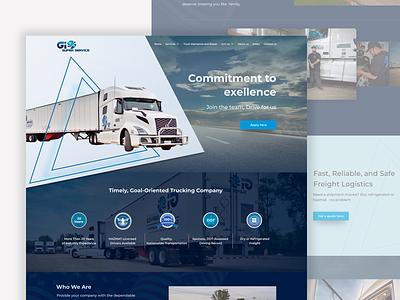 Website design for truck drivers jobs job truck website design web design webdesign web website ui ux perfectorium design