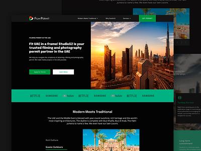 Film permit website design web website ux ui perfectorium design