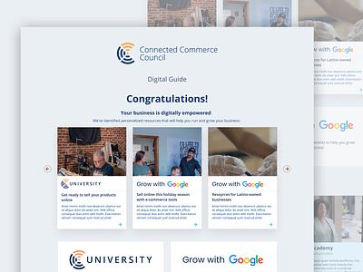 Connected commerce design web website ux ui perfectorium design