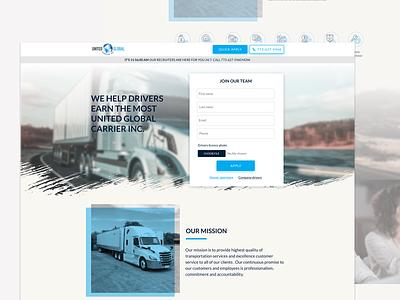 Unitedglobalcarrier landing design web ui website ux perfectorium design