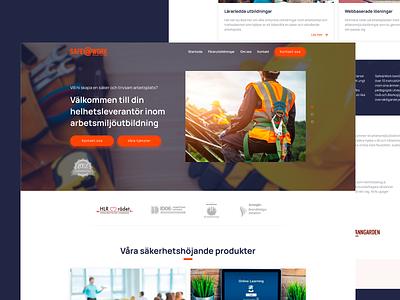 Safework website design web website ux ui perfectorium design
