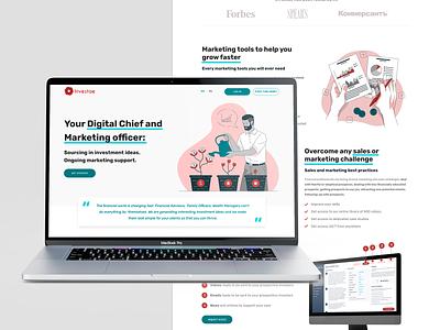 Investae website design illustrator illustration flat minimal web website ui ux perfectorium design