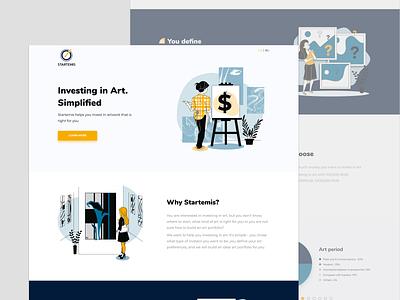Startemis website design illustrator typography illustration minimal web website ui ux perfectorium design