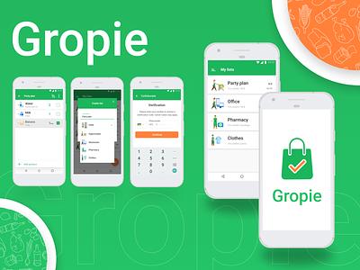 Gropie App flat icon minimal app ux ui perfectorium design