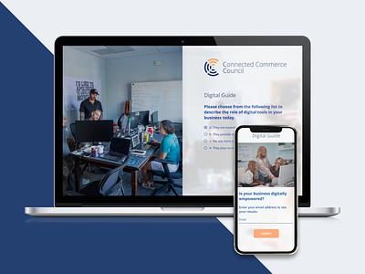 Connected Commerce Council graphic design flat branding web website ux ui perfectorium design