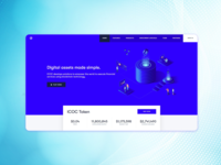 Landing page for an ICO project