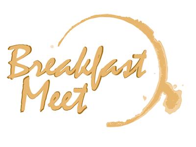 Breakfast Meet Coffee Stain Logo logo breakfast meet coffee stain coffee stain brown script