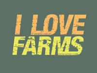 """I love farms"" t-shirt design"