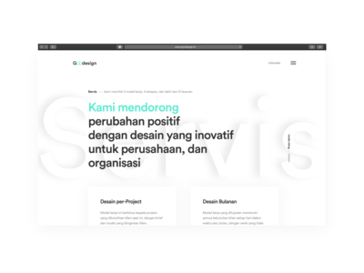 Web Design For www.goodesign.id