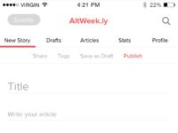 Write article