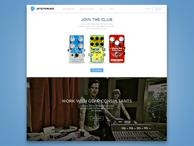 JetCityMusic.com guitar audio music clean membership e-commerce web