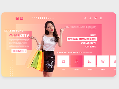 Modern eshop fashion eshop website webdesign ui ux business minimal vector slovak illustration design branding