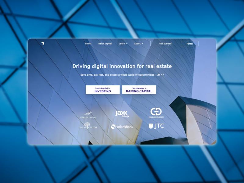 Real estate landing page front end design landing page real estate web ui