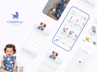 Child Store ( Free Source ) design uiuxdesign ios child care e-commerce app store children uidesign uxdesign user interface user flow user experience