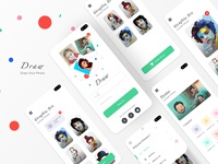 Draw Application uiuxdesign illustration ui app design ios graphicdesign drawing uidesign uxdesign user interface user flow user experience