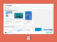Showpad for Gmail: Recommended Content