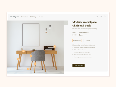 Furniture Website Adobe XD