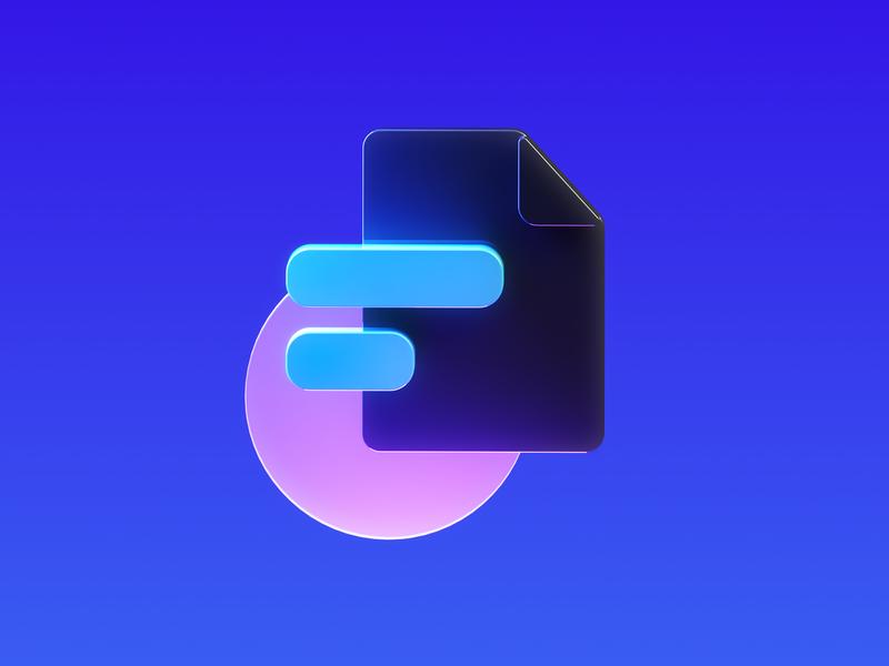 Framer Learn - Iconography 3 logo octane illustration icon cinema4d framer x framer design branding 3d