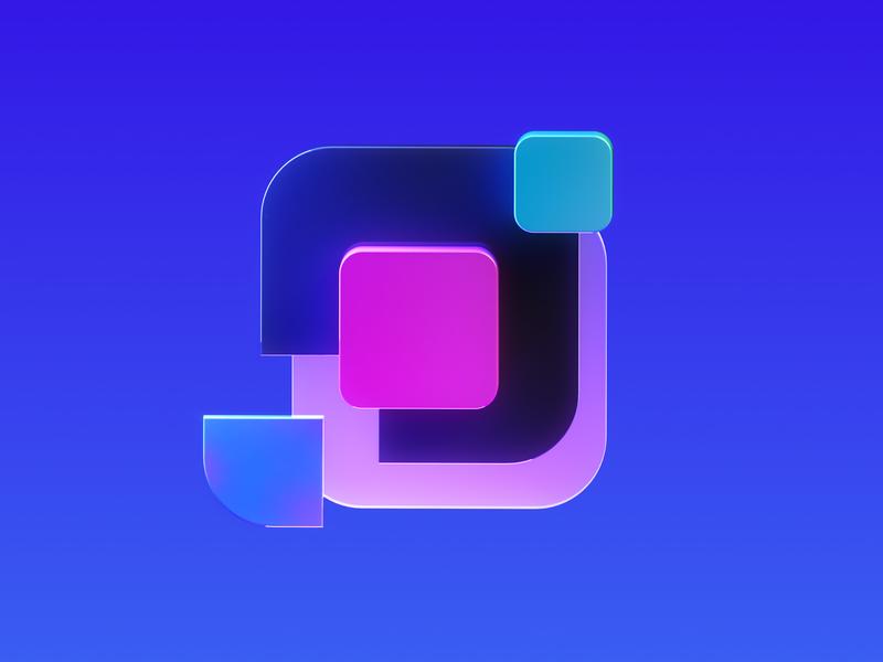 Framer Learn - Iconography 4 logo octane illustration icon cinema4d framer x framer design branding 3d