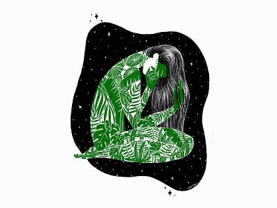 Universe Within character design design inspirational amazon minimal inspiration hand drawn procreate illustration
