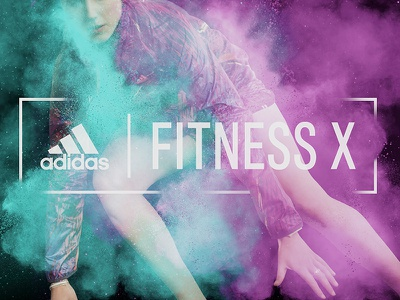 Killed Landing Page Header intense workout gym crossfit spring energy color fun athletic running powder