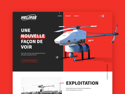 Helipse Webdesign helicopters drones drone bold copter helicopter ui ux ux ui web web design webdesign