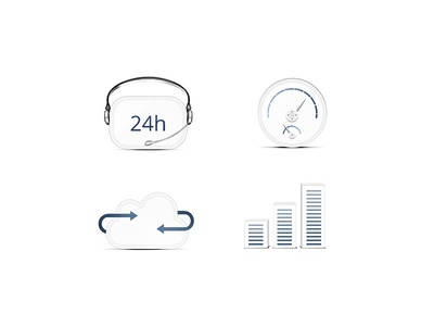 Icons for cloud company icon icons clean white cloud company blue simple