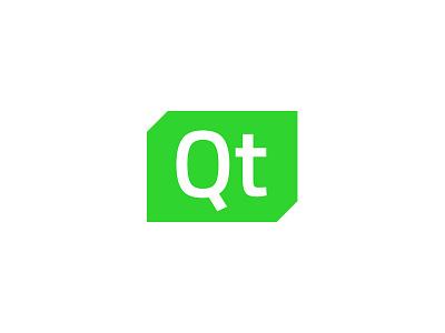 Qt  identity system visual system visual identity branding logo design logo identity framework technology tech neon gree