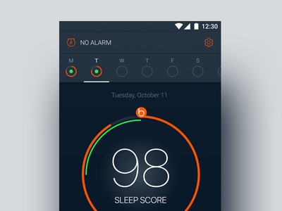 Solving Sleep for Android material design clean packaging app wellness health quantified self sleep tracking sleep