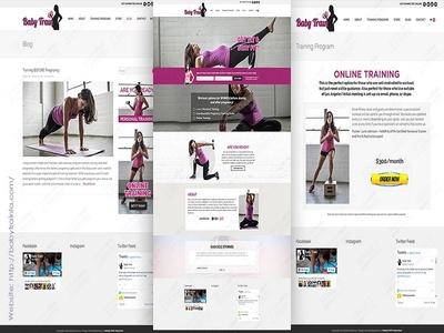 Baby Train Fitness Website Development