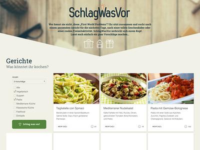 -SchlagWasVor- webapp design ui/ux schlagwasvor cyphersx webapp website