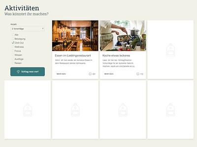 Layout -SchlagWasVor- Activityapp (Midsite) schlagwasvor webdesign cyphersx