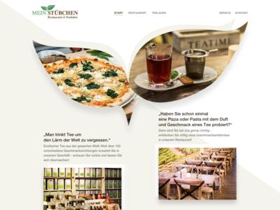 """Website Design """"Mein Stübchen"""" (Start)"""