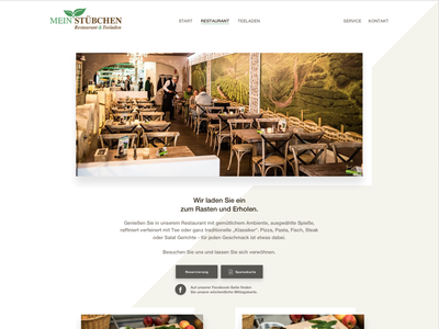 """Website Design """"Mein Stübchen"""" (Restaurant-Site) website design webdesign cx cyphersx"""