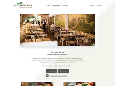 """Website Design """"Mein Stübchen"""" (Restaurant-Site)"""