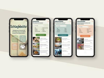 """SchlagWasVor"" - ui/ux app design phone app application ux ui schlagwasvor app design cyphersx cx"