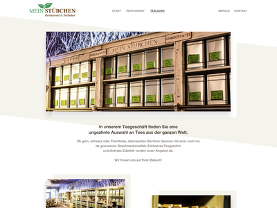 """Website design """"Mein Stübchen"""" (Teashop-Site) restaurant website ux ui website design webdesign cyphersx"""