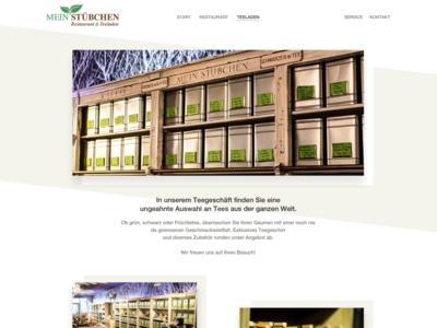 """Website design """"Mein Stübchen"""" (Teashop-Site)"""
