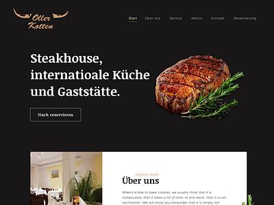 Web design -Oller Kotten- restaurant cyphersx ux ui webdesign design website