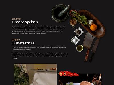 Web design -Oller Kotten- (service section) restaurant cyphersx ui ux design website