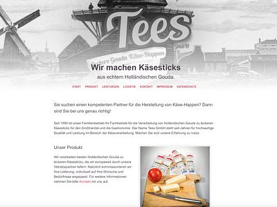 Tees GmbH · Throwback 2014 Website Project cheese ui ux webdesign cyphersx website development