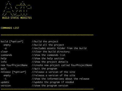 Azir 1.0.3 - Console App for Build Static WebSite static development developer console app design app