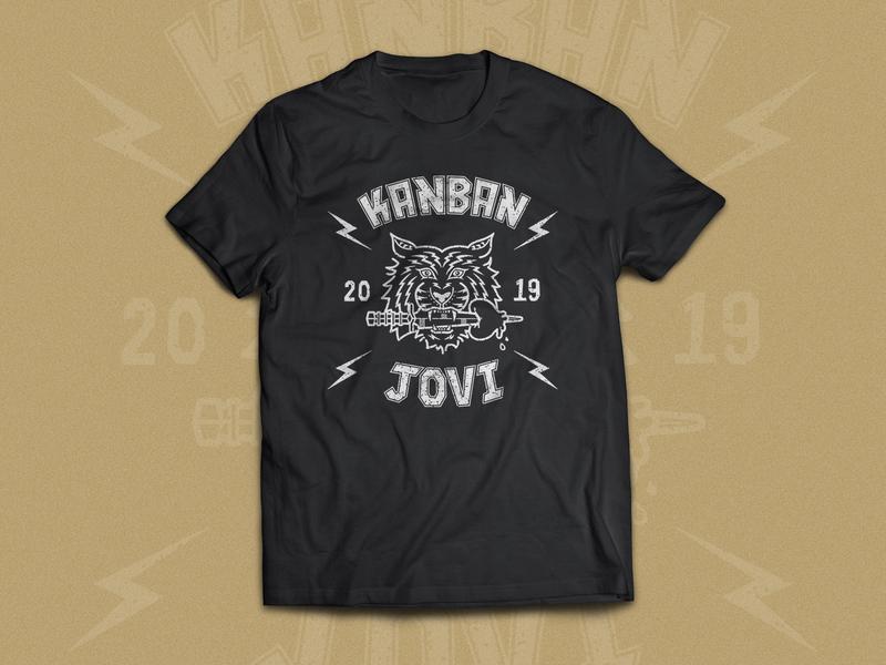 BOTB Kanban Jovi Shirt tshirt shirt lightning bolts tiger logo lettering hand lettering vector illustration typography design