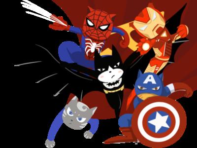 super hero spider man,iron man batman hero super man panting illustrations
